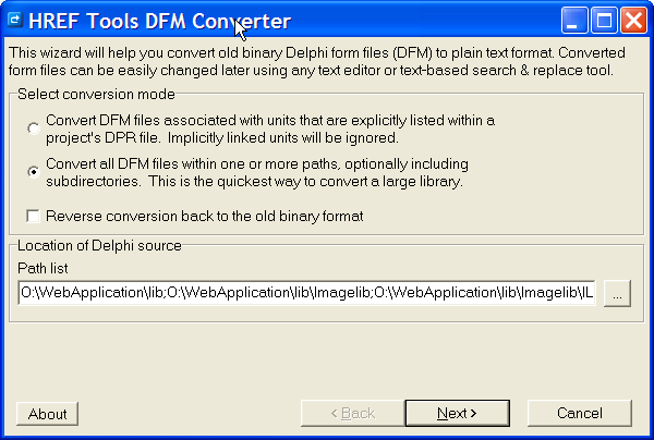 Click to view DFM Converter 1.0.0.0 screenshot